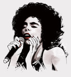 Fototapety afro american jazz singer