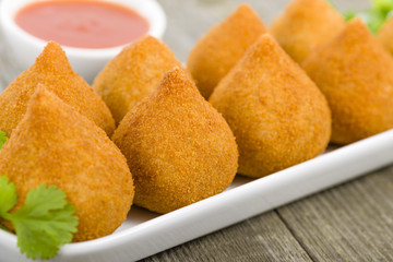 Coxinha de Galinha - Brazilian deep fried chicken snack