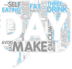 Concept of Diet How to really make your Diet work for you