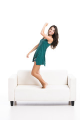 Dancing on the sofa