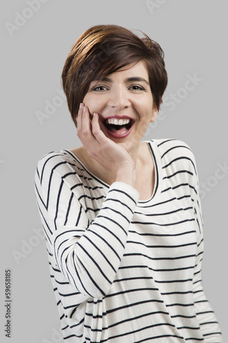 Beautiful woman laughing