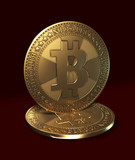 Symbolic image of virtual currency - bitcoin