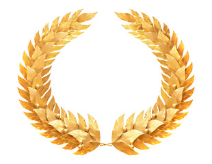 Round golden wreath of the winner