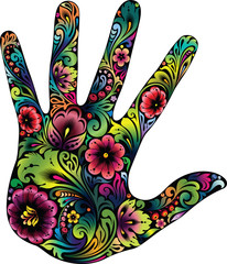 Hand in the flowers II