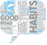 Concept of Eating the Right Food and Maintaining Good Eating poster