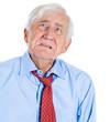 Sad, depressed, lonely, crying old man, senior executive