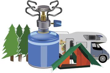 fornello gas per campeggio