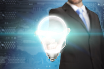 Businessman lightbulb concept