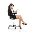 Business woman with a tablet