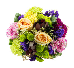 Colorful fresh flowers bouquet