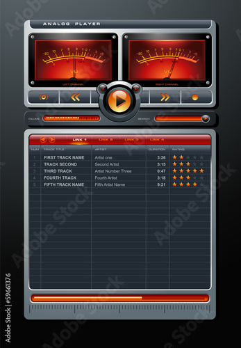 Analog Stereo MP3 Music Media Player vector