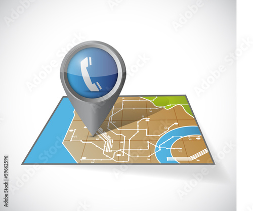 map communication pointer illustration