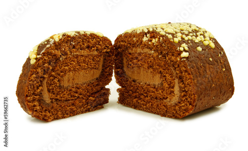 sweet rolls on a white background on a white background