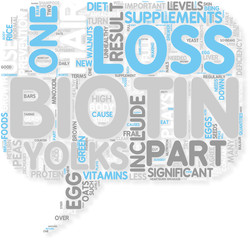 Concept of Hair Loss Biotin is Food for Your Hair