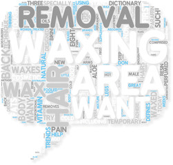 Concept of Hair Removal By Waxing
