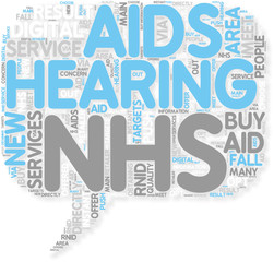 Concept of Hearing aids on the NHS