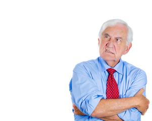 Unhappy, grumpy, annoyed old man, boss, senior executive