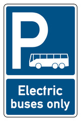parking signs electric buses only bus-symbol