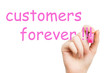 customers forever pink marker