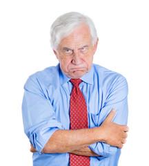 Unhappy, grumpy, annoyed old man, senior boss, executive