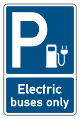 parking signs electric buses only