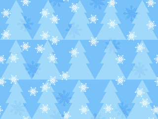 Christmas trees pastel background seamless