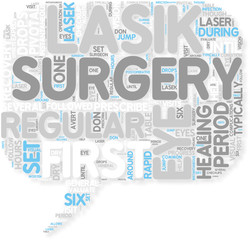 Concept of How Long Is The Healing Time After LASIK Surgery