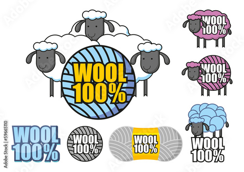 Emblem of wool sheep