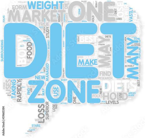 Concept of How to Lose Weight with Zone Diet
