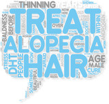 Concept of How to treat  cure Alopecia poster