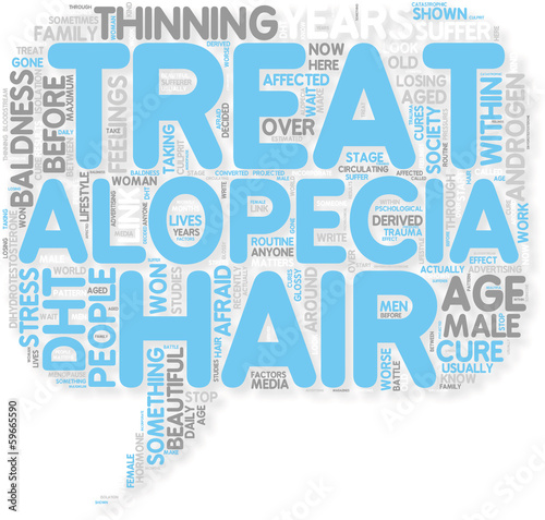 Concept of How to treat  cure Alopecia