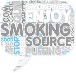 Concept of I Like Smoking Cigarettes