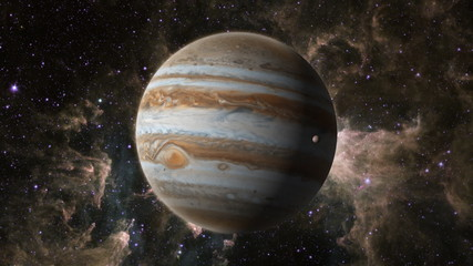 Planet Jupiter with Europa