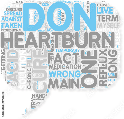 Concept of Kick Heartburn To The Curb