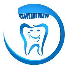 Zahn und Zahnbürste