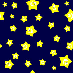 Seamless Yellow Cartoon Star