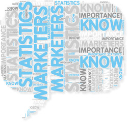 Concept of Marketers know the importance of statistics