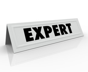 Expert Name Tent Card Guest Speaker Expertise Experience