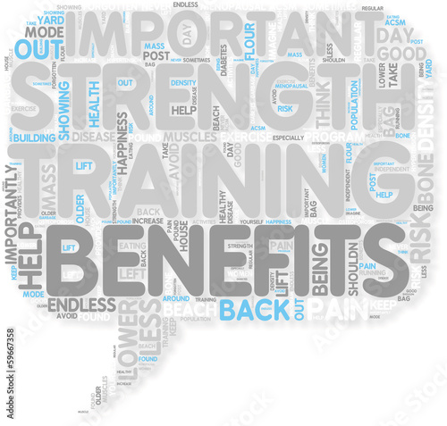 Concept of Benefits of Strength Training
