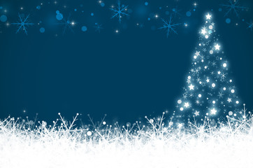 Blue christmas and New Year background.