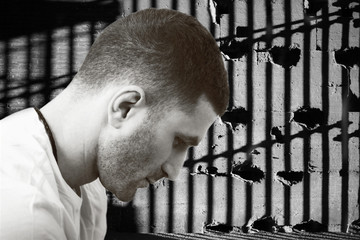 Inmate or man in jail