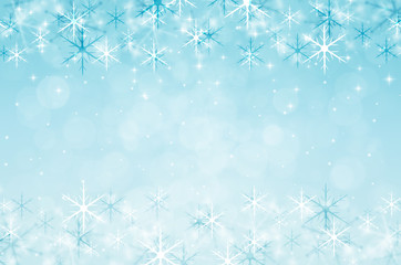 christmas background with snowflake and glitter.
