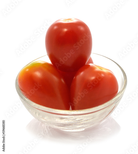 cherry tomatoes  isolated on a white