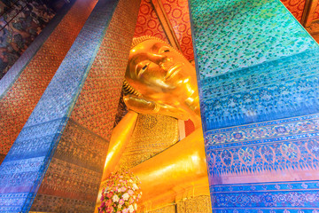 Buddha statue at Wat Pho in Bangkok of Thailand
