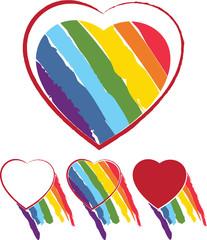 Heart & rainbow