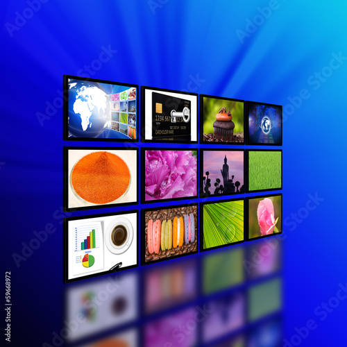 Television  with internet production technology concept