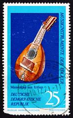 Postage stamp GDR 1971 Mandolin, Italy