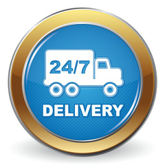 DELIVERY 24 7 ICON