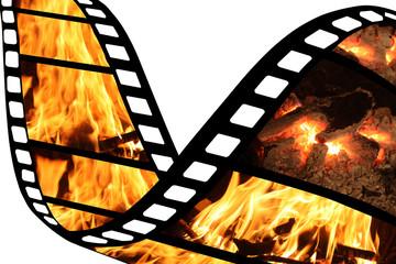 Feu / Flamme Incendie - Film