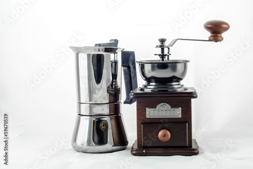 Moka Pot with Grinder